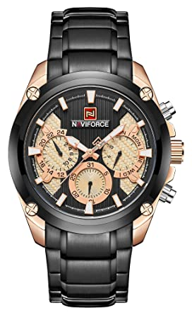 Amazon.com: Reloj cronógrafo con correa de acero inoxidable ...