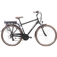 F.lli Schiano E- Ride Bicicleta, de los Hombres, Negra, 28 ''