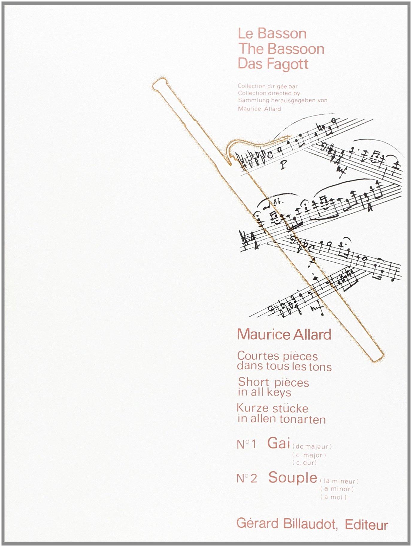 Courtes Pieces Dans Tous les Tons : N 1 Gai - N 2 Souple Broché – 1 janvier 2000 Allard Maurice Billaudot B003JYOJOM