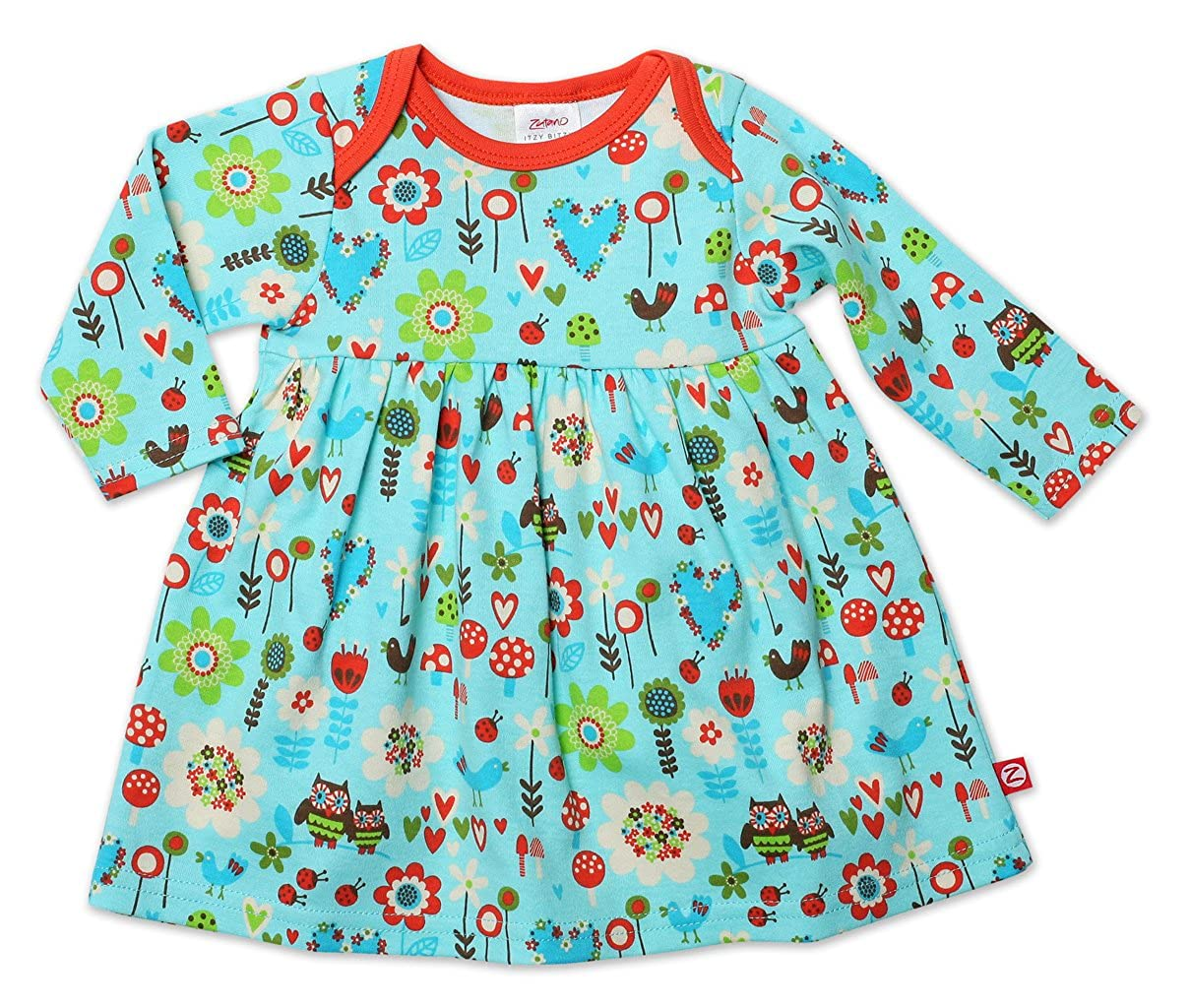 Zutano Baby-girls Newborn Penny Lane Long Sleeve Dress