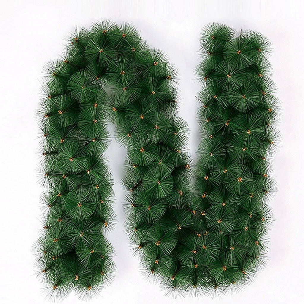 Christmas rattan pine needles decorations hotel door ornaments