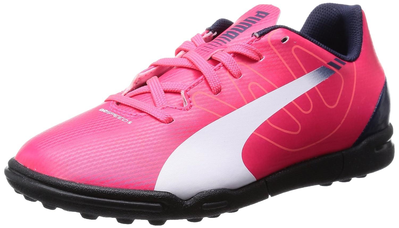 Puma Evospeed 5.3 TT Jr, Botas de fútbol Infantil, Rojo (Bright Plasma-White-Peacoat 05), 39 EU: Amazon.es: Zapatos y complementos
