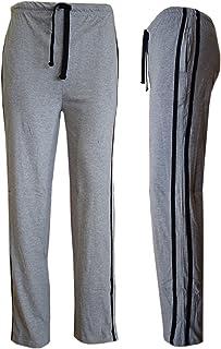 Mens Long Lounge Wear Pants Nightwear Pyjama Bottoms Sleepwear (Medium, Grey)