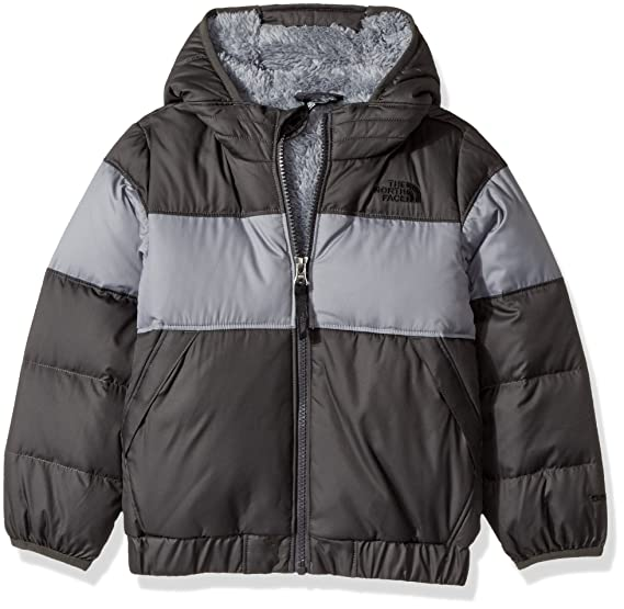 06982f6d6 The North Face Kids Baby Boy's Moondoggy 2.0 Down Jacket (Toddler) Graphite  Grey 4T