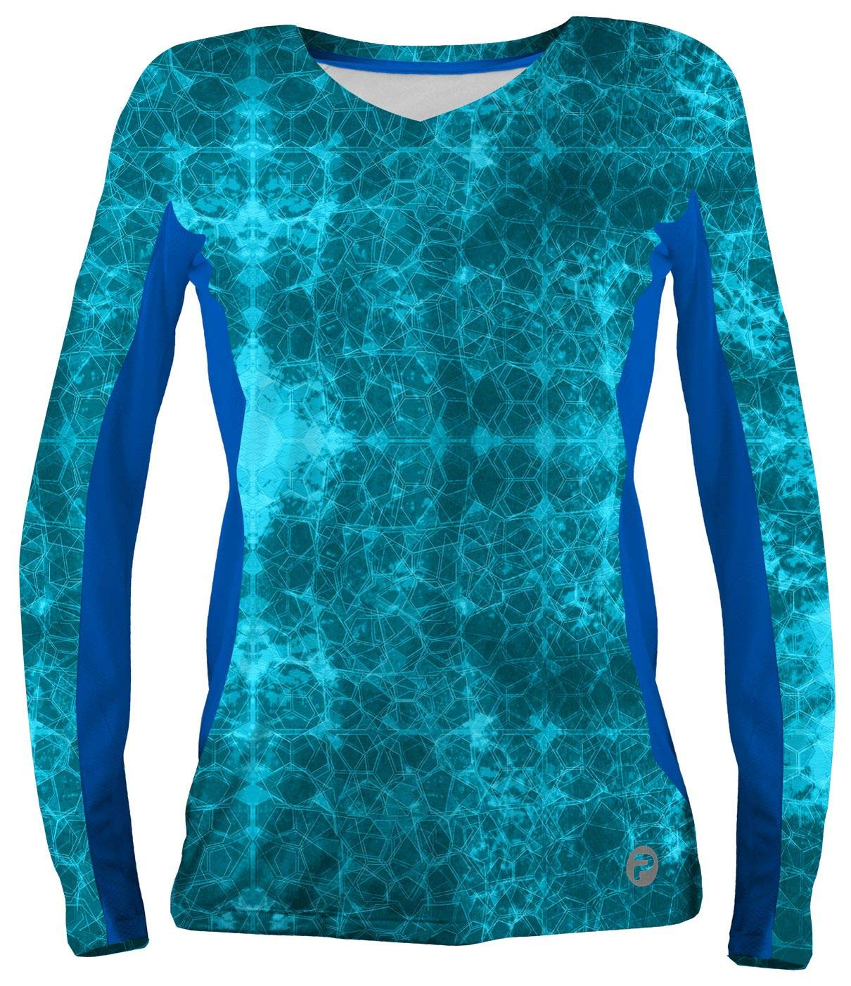 Pelagic Women's Solar Pro Long Sleeve Fishing Shirt | Hex Print | UPF 50+ Sun Protection by PELAGIC