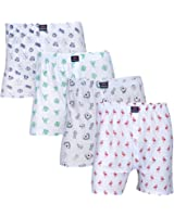 Feed Up Men's Cotton Hosiery Boxers Pack of 4