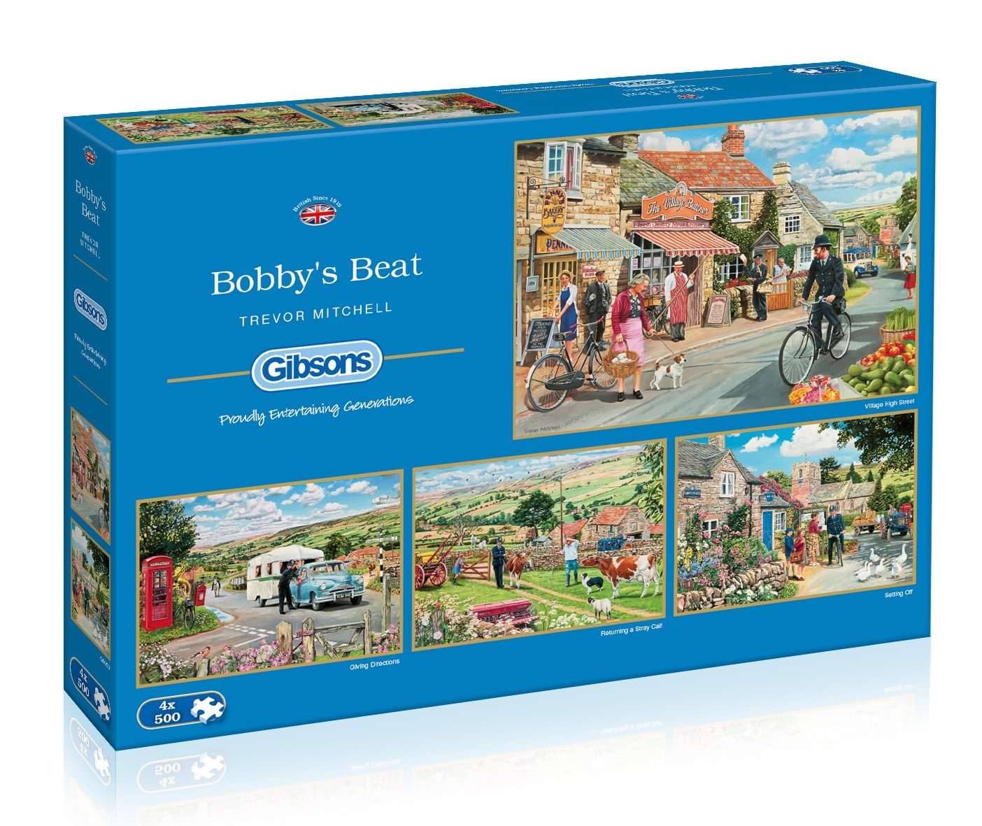Gibsons Beat Bobby's Beat Jigsaw Puzzles (4 (4 x 500 Pieces) B00PFL773M B00PFL773M, 美StarShop:94b2d34e --- sharoshka.org