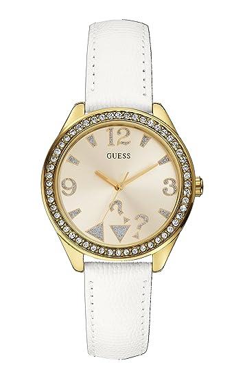 Guess Reloj analógico para Mujer de Cuarzo con Correa en Piel W0402L1: Guess: Amazon.es: Relojes