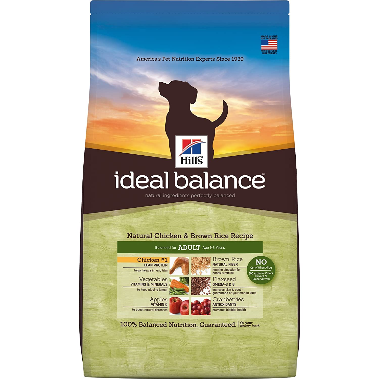 Ideal Balance Dog Food >> Hill S Ideal Balance Adult Natural Dry Dog Food Chicken Brown Rice Recipe