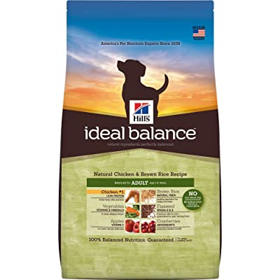 Hill'S Ideal Balance Adult Natural Dry Dog Food Chicken & Brown Rice Recipe