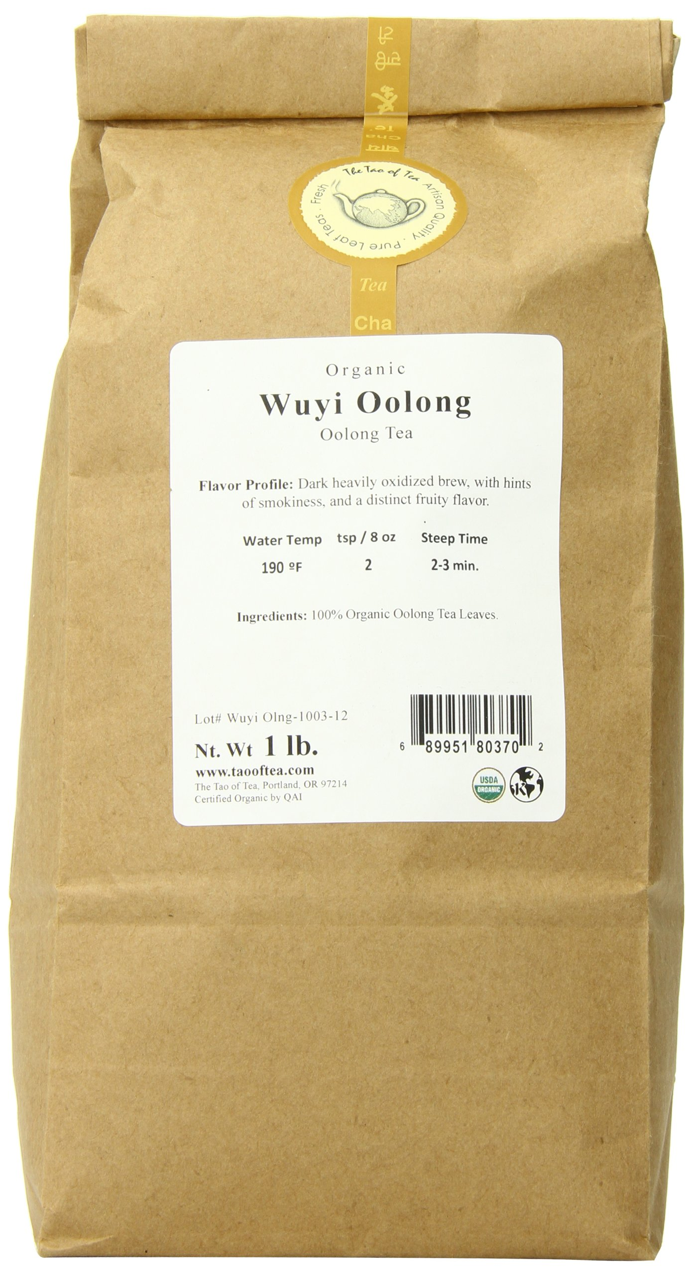 The Tao of Tea Wuyi Oolong, 1-Pounds