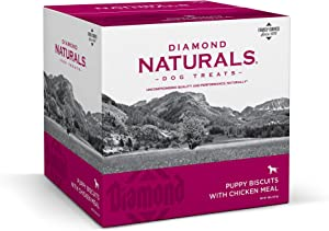 Diamond Naturals 9071_19_DN P BIS Puppy Diamond Biscuit Dog Treat with Chicken Protein, 19lb