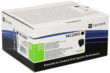 Lexmark 74C20K0 cartucho de tóner Original Negro 1 pieza(s ...