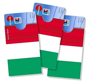 italien ec karte cardbox DESIGN: Italien Flagge / Italienische Fahne /// SET