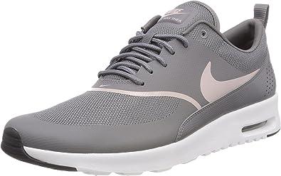 Nike Women's Air Max Thea Low Top Sneakers, Grey (GunsmokeParticle Rose Black 029), 4 UK 37.5 EU