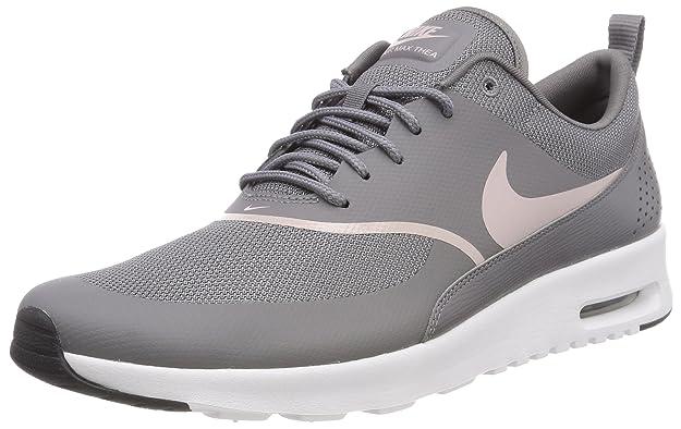 online store 7a80e 50139 Amazon.com   Nike Women s Air Max Thea Gunsmoke Particle Rose Black Running  Shoe 7.5 Women US   Road Running