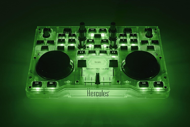Hercules DJ Control Glow - Consola DJ con 2 ruedas Jog y effectos ...