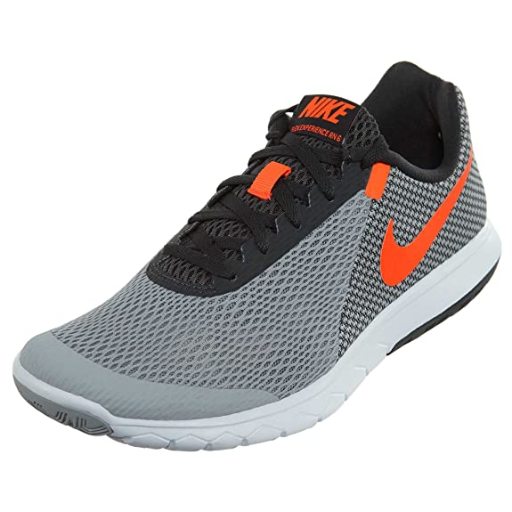 Nike Mens Flex Experience RN 6 Wolf Grey/Total Crimson Anthracite White 15