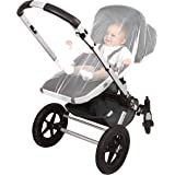 EVEN Naturals Luxury MOSQUITO NET for Stroller, Baby Carrier, Infant Car Seat, Extra Fine Holes, Soft Insect Netting, Fly Screen Protection, Jogging Bug Net, Quick and Easy to install, Storage Bag, No Chemicals