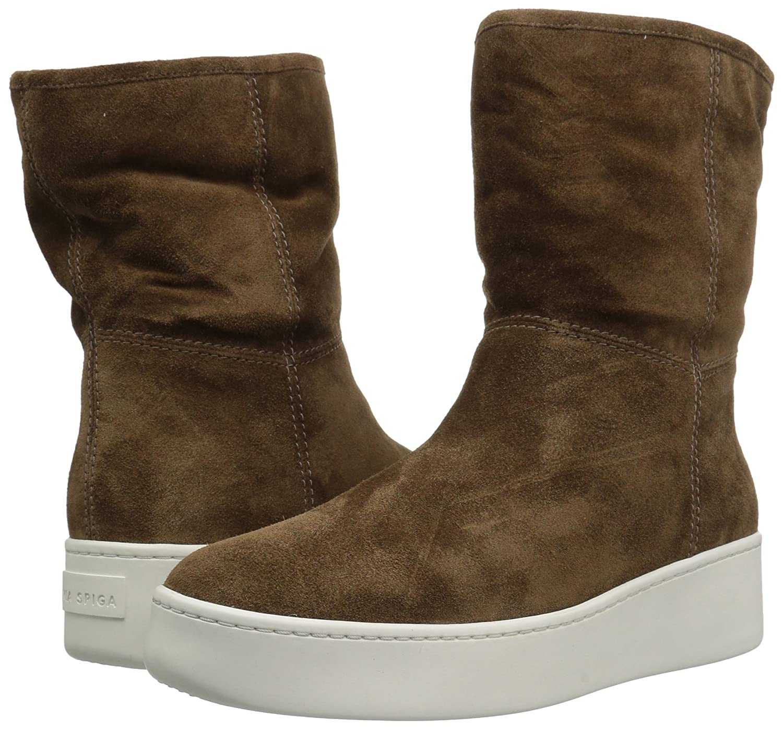Via Spiga Women's Elona Shearling Sneaker Fashion Boot B06XGSWF9P 11 B(M) US|Bark Suede
