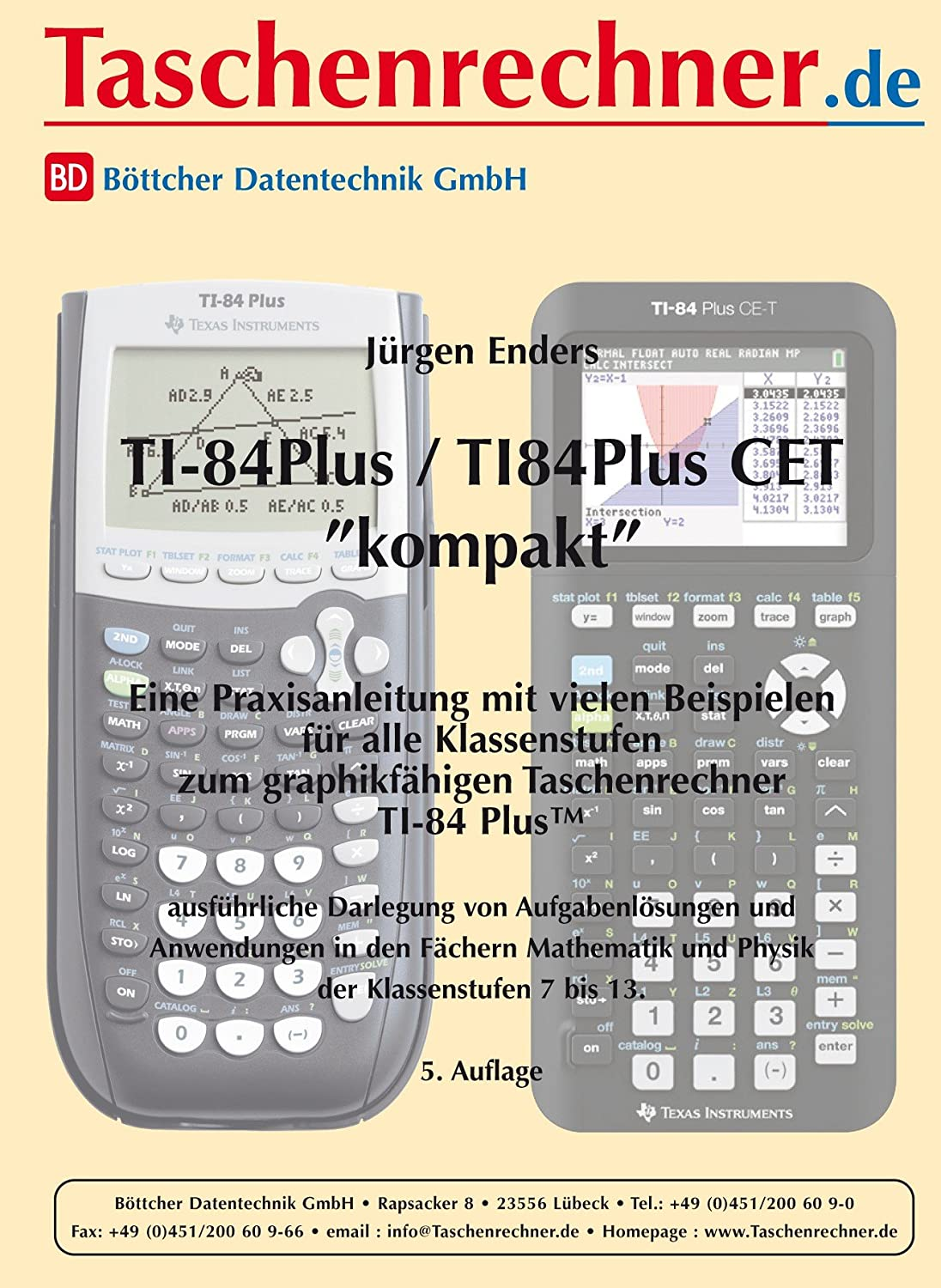 Texas Instruments TI-84 Plus CET Paket 1