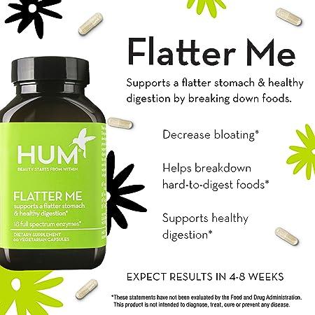 Amazon.com: Enzimas digestivas HUM Nutrition Flatter Me, 60 ...