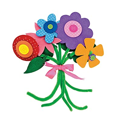 Felt Flower Bouquet Craft Kit - Crafts for Kids and Fun Home Activities: Toys & Games