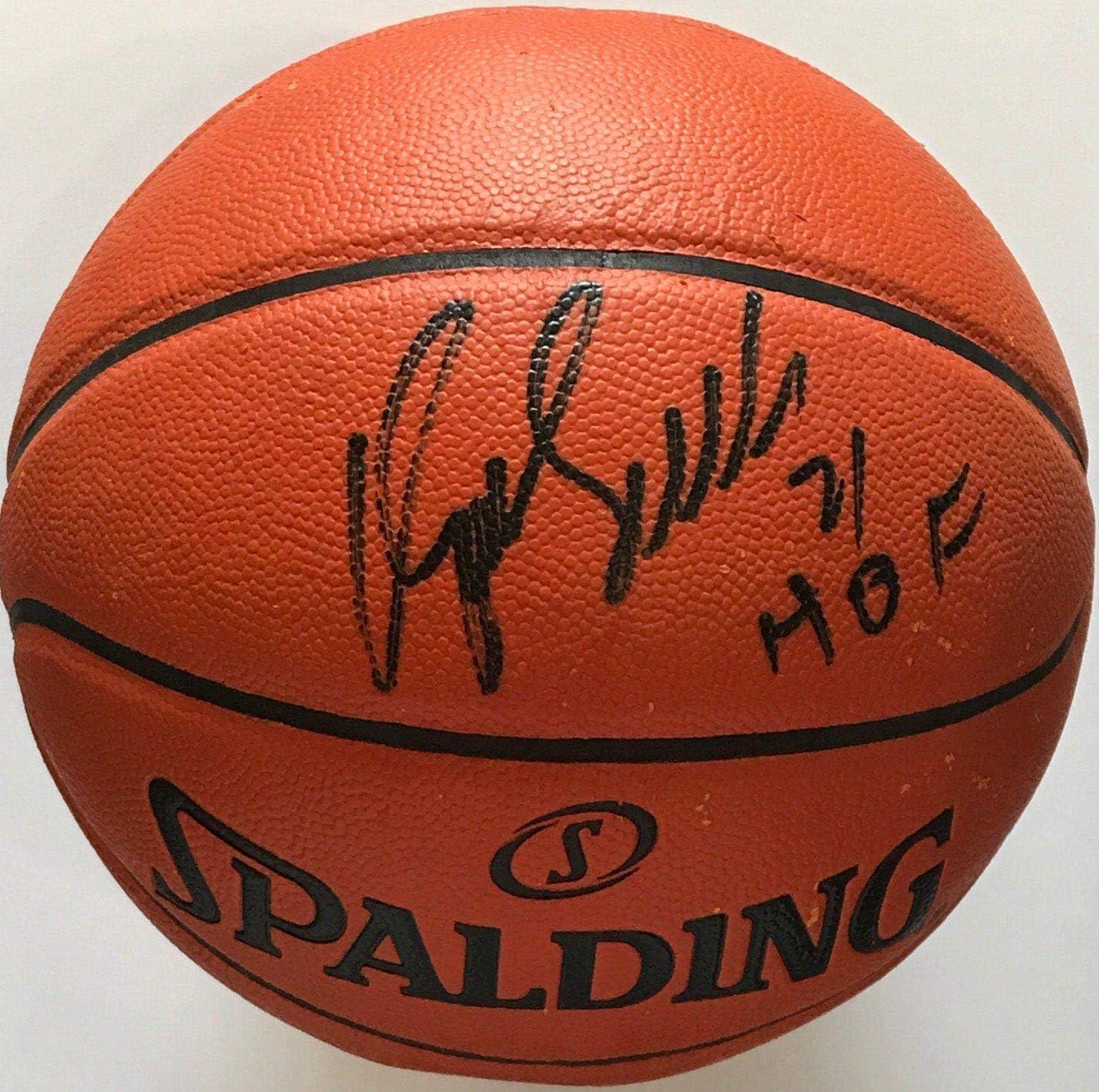 Dominique Wilkins Autographed Hybrid Basketball Autographed Basketballs