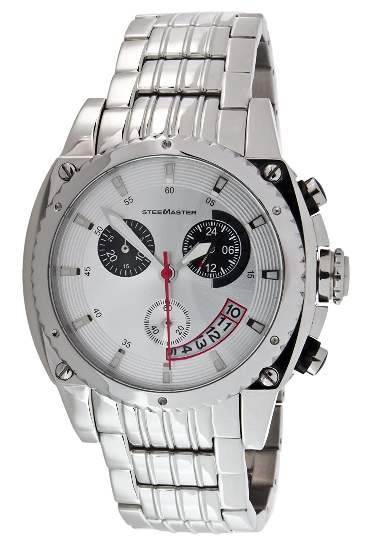 Steel Master Herren-Armbanduhr Chronograph Quarz Analog Edelstahl - CAP1103198.C