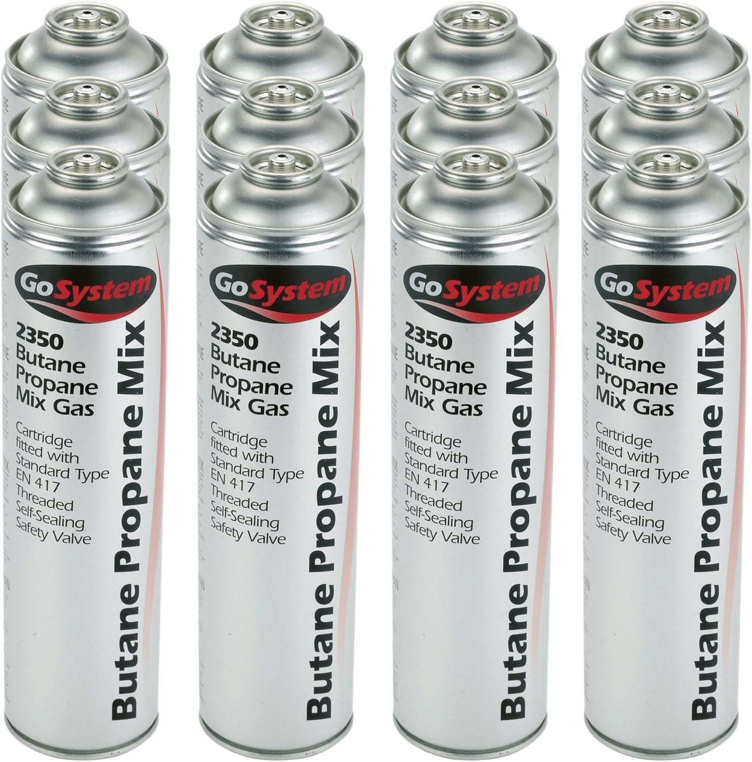 Butane Propane Gas Mix Cartridge Threaded Self Sealing Valve Go System Pack of 4