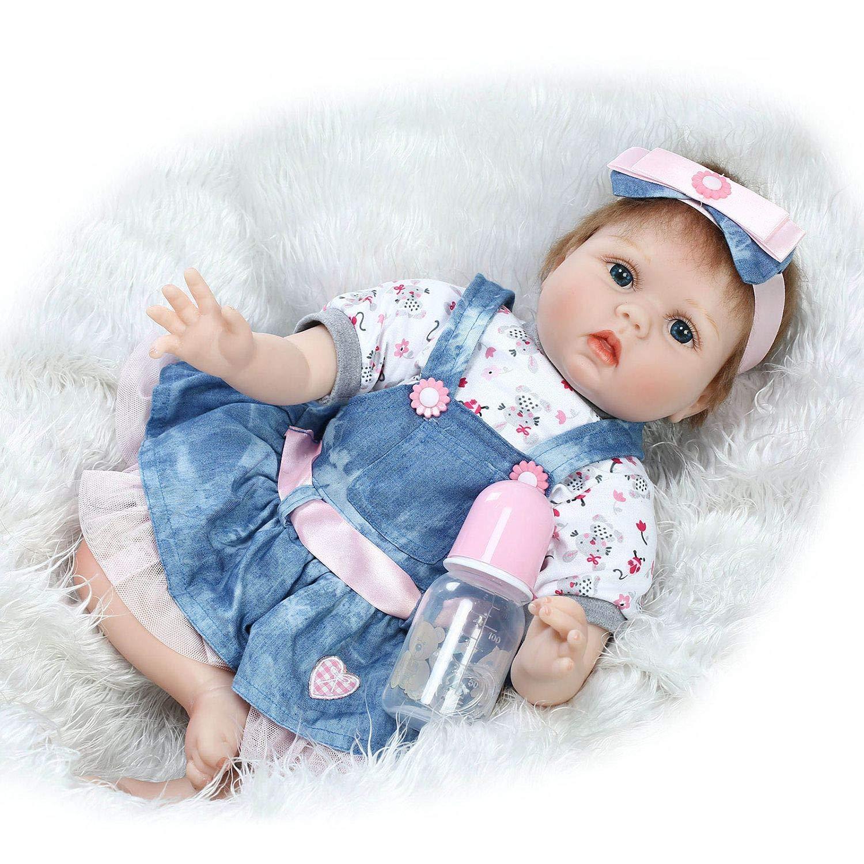FairytaleMM Popular Suave Realista Realista Precioso Encantador Reborn Baby Doll Jugar en casa Juguetes Baby Dolls Juguete Maravilloso Regalo de cumpleañ os