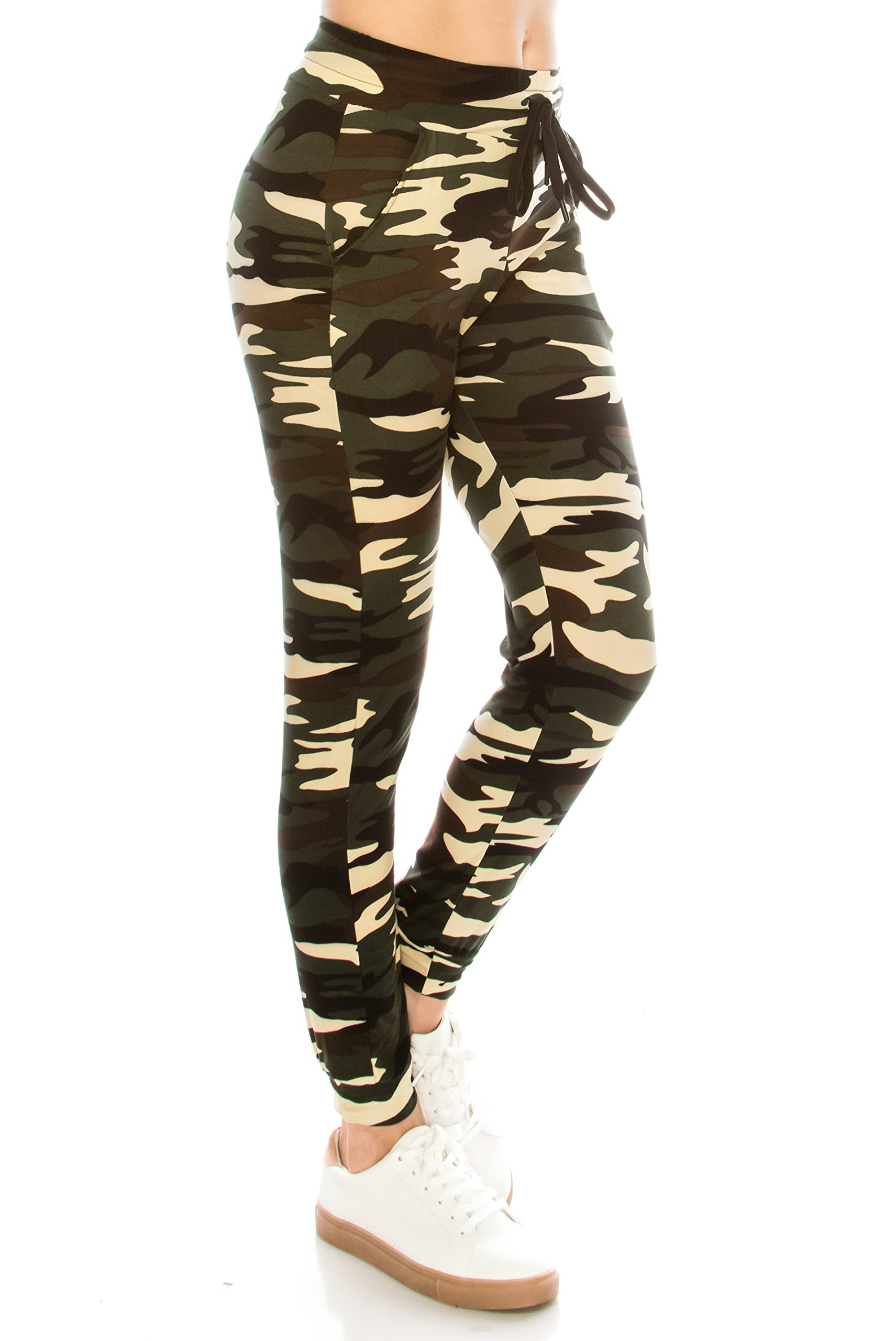 ALWAYS Women Drawstrings Jogger Sweatpants - Skinny Camo Soft Pockets Pants S/M by ALWAYS