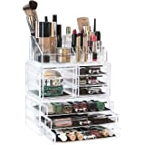Arnais Beauty Acrylic Makeup Organiser Storage, 3 Tier Stackable Cosmetic Units Great for Displaying Make Up Brushes, Lipsticks, Palettes, Nail Polish