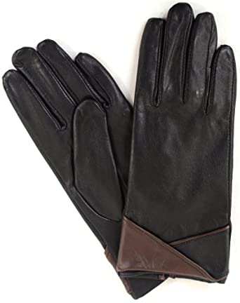 ff415eca53974 Snugrugs Womens Soft Leather Gloves with Turn Back Cuff Design   Amazon.co.uk  Clothing
