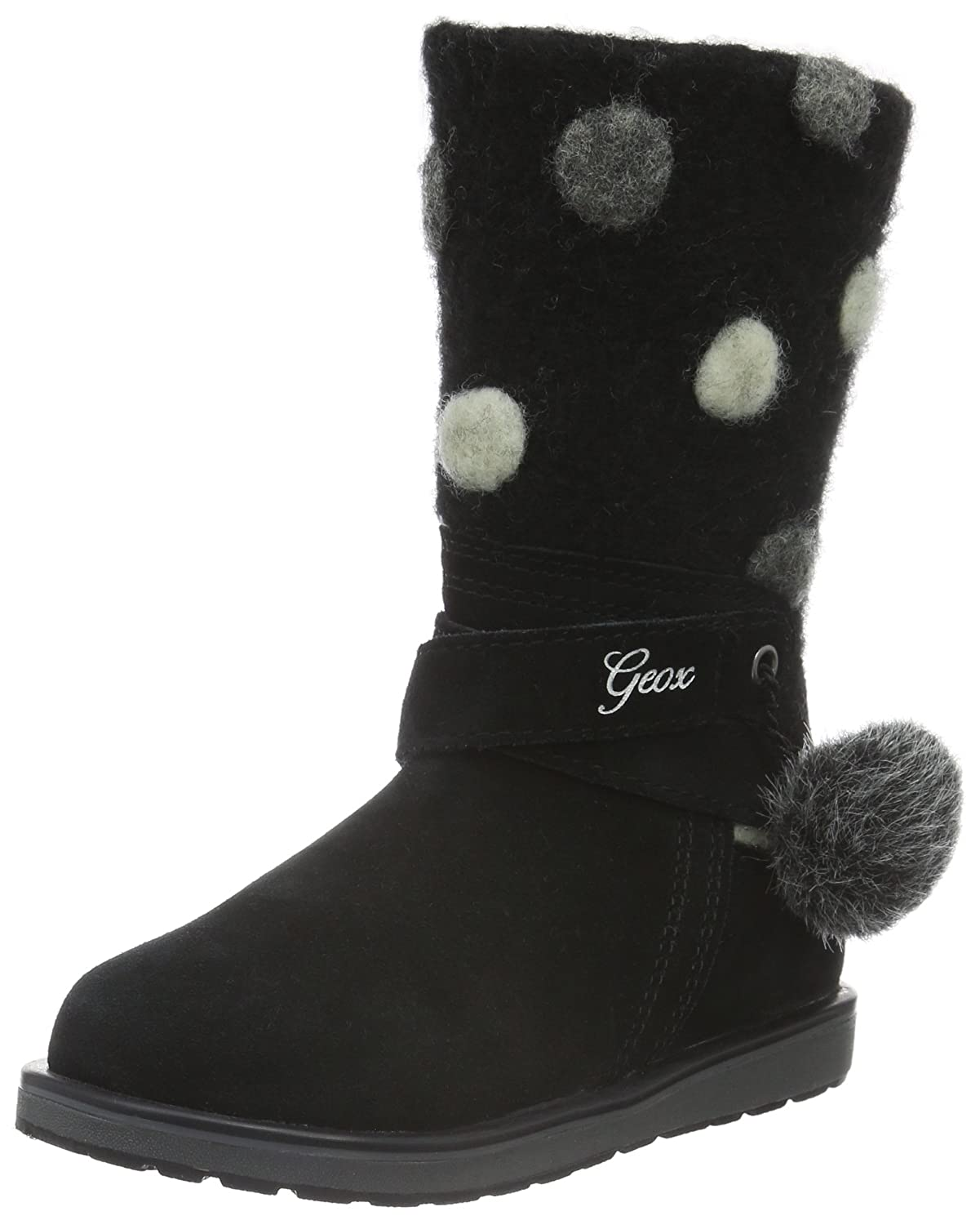geox Girl Boots NOHA Black,geox shoes cheap,Official UK