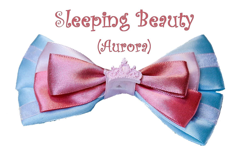 Saco de dormir belleza con diseño de princesas Disney con diseño de píxeles lazo para el pelo de nieve formando un juego de accesorios para de diapositivas: ...