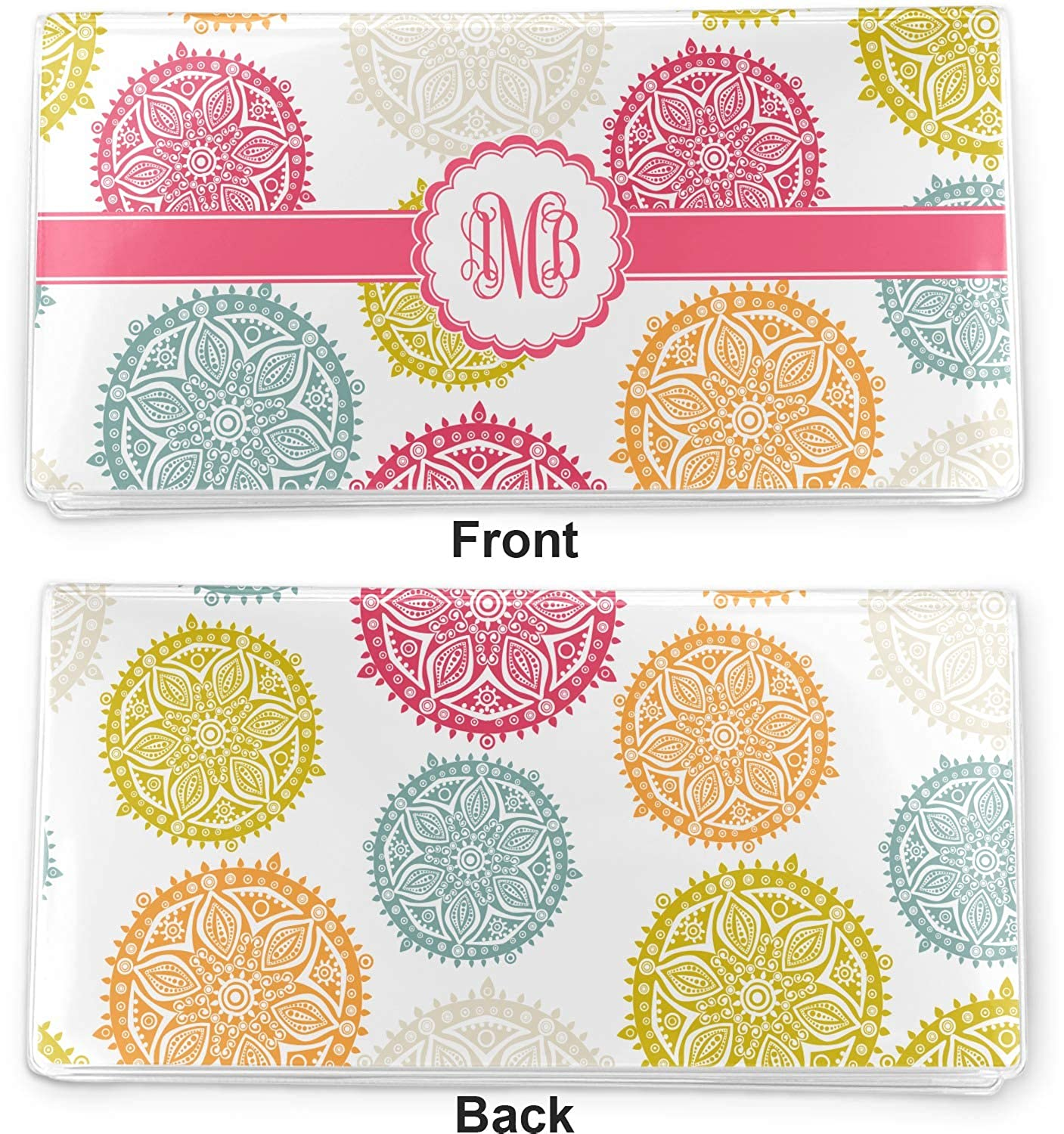 Doily Pattern Vinyl Checkbook Cover Personalized