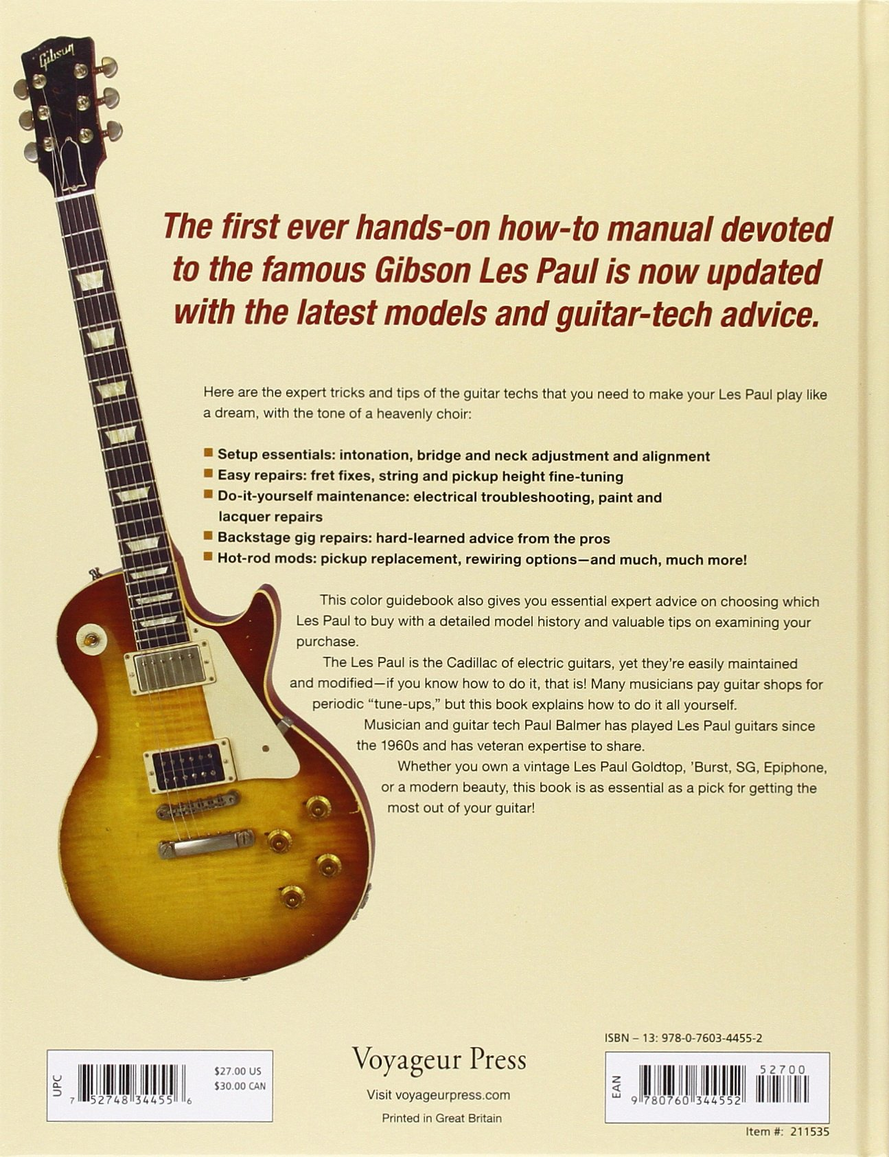 The Gibson Les Paul Handbook - New Edition: How To Buy, Maintain ...