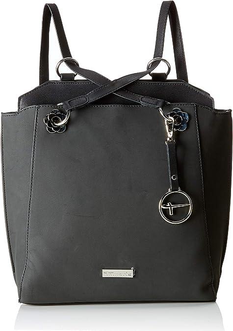 Schwarz Neu Tamaris Olympia Shopping Bag Schultertasche Tasche Black Comb