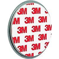 ECENCE Rauchmelder Magnethalter 1 Stück Selbstklebende Magnethalterung für Rauchmelder Ø 70mm schnelle & sichere Montage ohne Bohren und Schrauben für alle Feuermelder und Rauchwarnmelder 45020108001