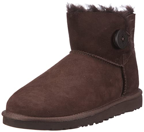 Ugg Mini Bailey Button - Botines planos, talla: 38, color: Marrón: Amazon.es: Zapatos y complementos