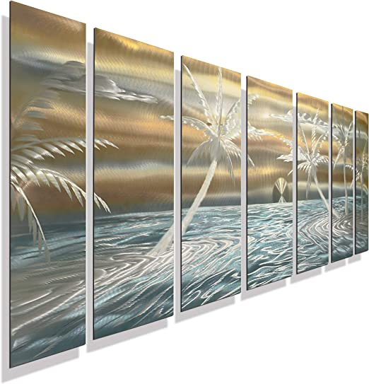 Statements2000 3D Metal Wall Art Panels Gold Silver Abstract Painting Jon Allen