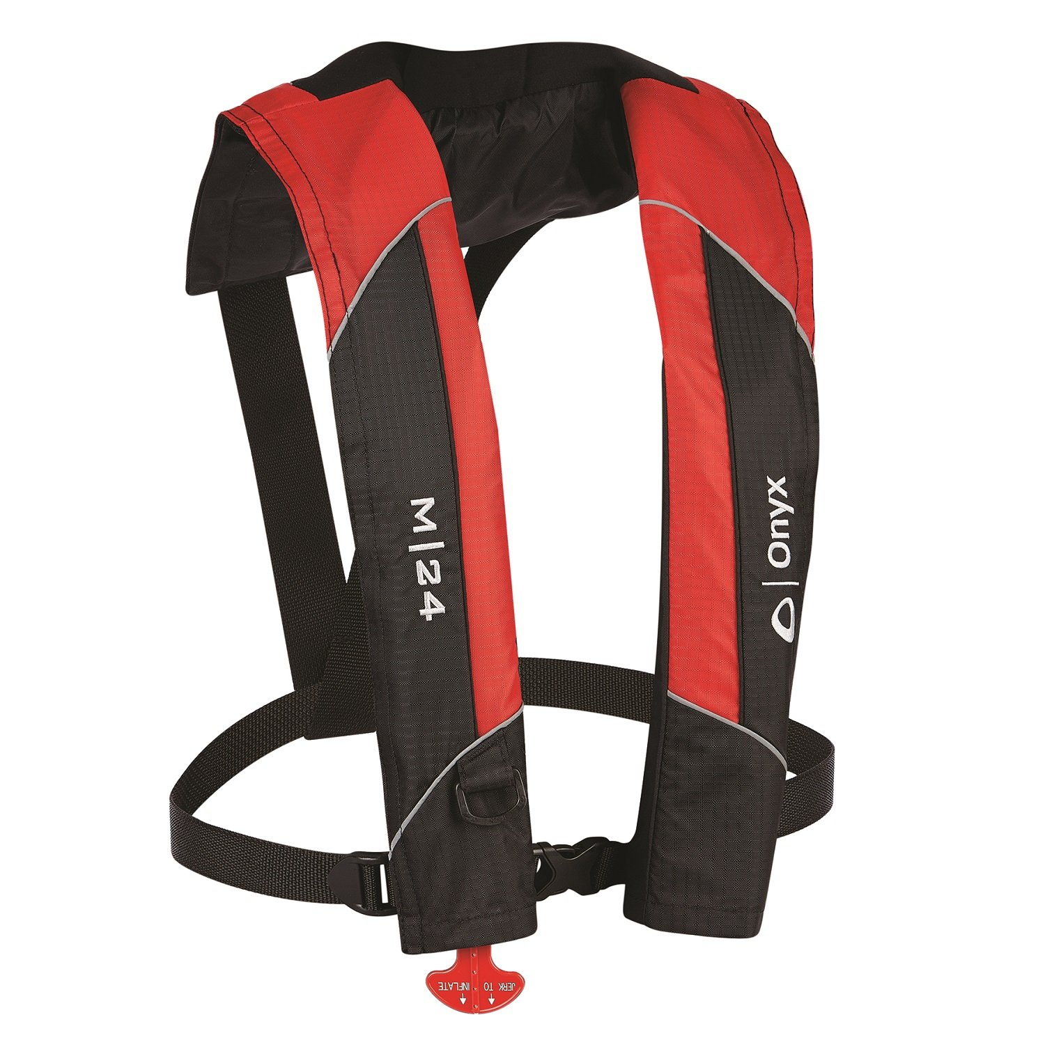 Onyx M-24 Manual Inflatable Vest, Red by Onyx