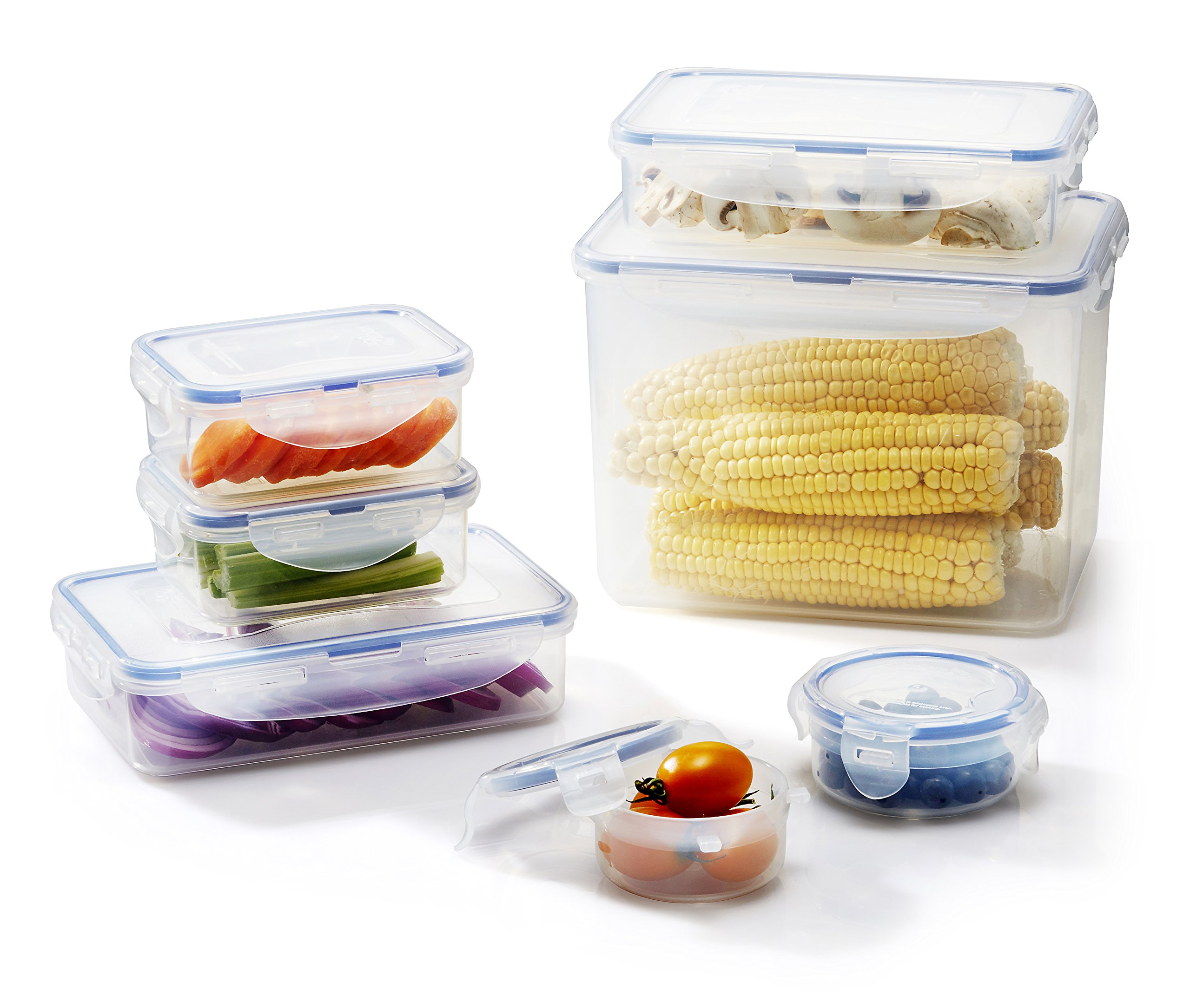 Lock&Lock 270-Fluid Ounce Rectangular Container with Handle and Tray, Tall, 33.3-Cup
