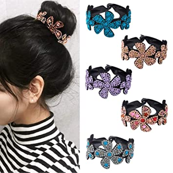 Women Elegant Hair Clip Crystal Claw Ponytail Bun Hair Comb Hairpin Accessories