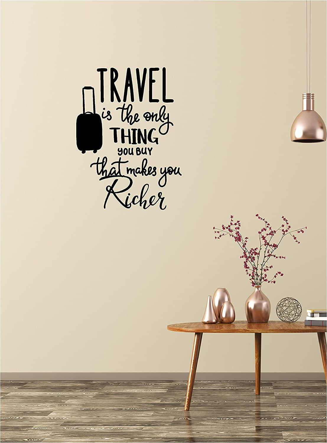 Home wall decal decor travel is the only thing you buy that makes you richer vinyl wall decals quotes sayings words art decor lettering wall art