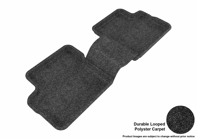 3D MAXpider Front Row Custom Fit Floor Mat for Select Toyota Matrix Models L1TY04312209 Classic Carpet Black