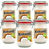 Premium Bio Kokosöl nativ aus erster Kaltpressung Sri Lanka Für Haare Haut und Küche (6000ml)