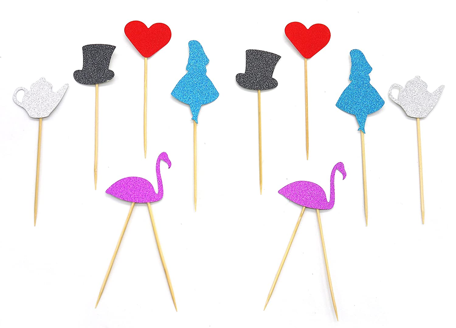PuTwo Cake Topper Suit Wedding Birthday Cake Decorating Cupcake Toppers Party Supplies B01FTQKFKO