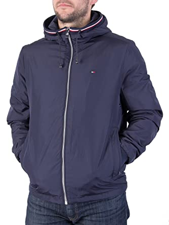 a4e1eed502ed47 Tommy Hilfiger Men's Zake Lightweight Jacket, Blue, Small: Amazon.co ...